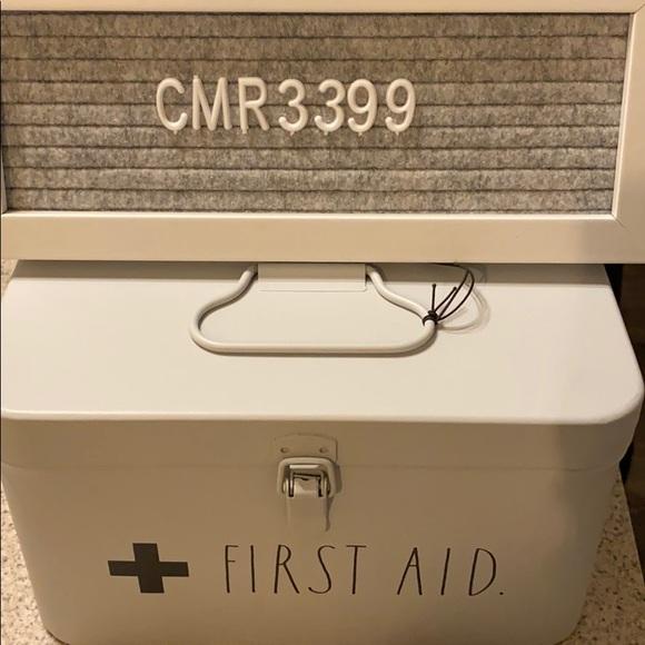 """NWT Rae Dunn """"FIRST AID"""" kit"""